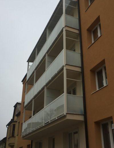 Alufix hlinikove balkonove zabradlia stefanikova ulica zilina- po realizacii 2019